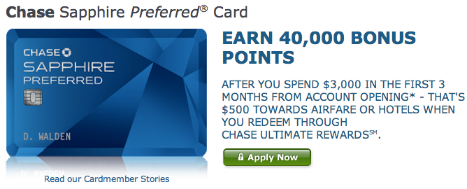 Earn 40,000 Points After $3,000 in Spend