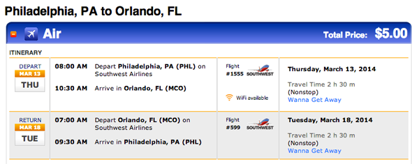 $5.00 for a Round Trip to Orlando - I'll Take It!