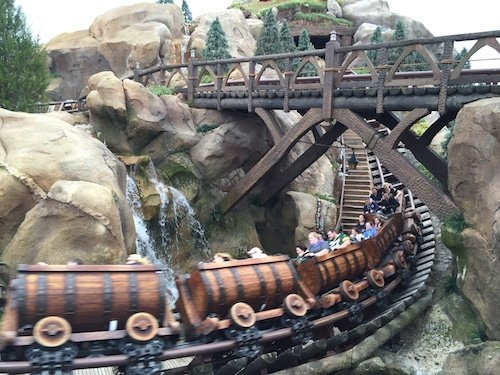 The mine train looked like fun but not for a 60 minute wait